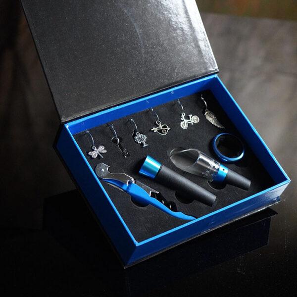 10pc Blue Wine Tool Set hi-res